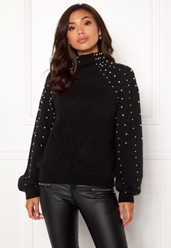 Make Way Pearlie knitted sweater Black Bubbleroom.fi