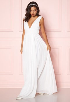 Make Way Prudence maxi dress Winter white Bubbleroom.fi