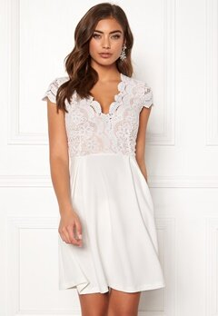 Make Way Rachel lace dress White / Beige Bubbleroom.fi