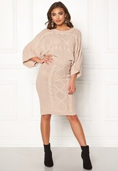 Make Way Rania knitted skirt Beige Bubbleroom.fi