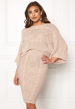 Make Way Rania knitted sweater Beige Bubbleroom.fi