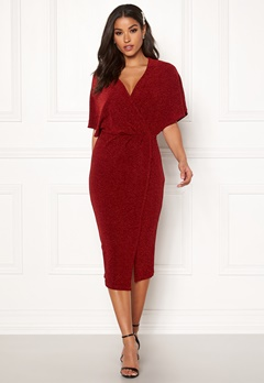 Make Way Selena sparkling dress Red / Red Bubbleroom.fi