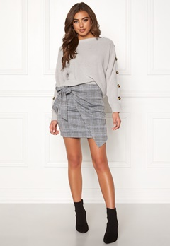 Make Way Sherida skirt Grey / Checked / Blue Bubbleroom.fi