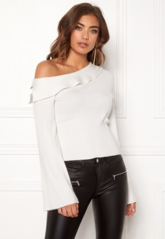 Make Way Signe knitted top White Bubbleroom.fi