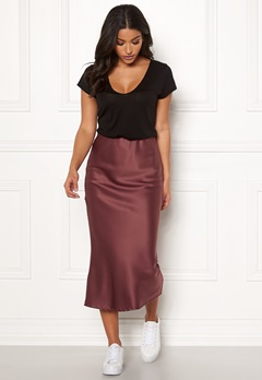 Make Way Teoli skirt Dark old rose Bubbleroom.fi