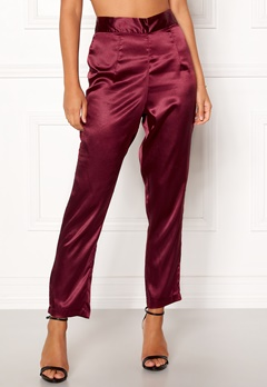 Make Way Tomika trousers Wine-red Bubbleroom.fi