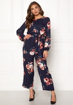 Make Way Valorie jumpsuit Dark blue / Floral Bubbleroom.fi