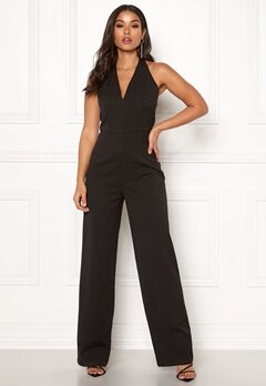 Make Way Veralii halterneck jumpsuit Black / White / Striped Bubbleroom.fi