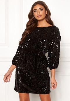 Make Way Lettina sequin dress Black Bubbleroom.fi