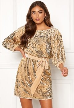 Make Way Lettina sequin dress Gold-coloured Bubbleroom.fi