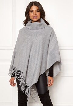 OBJECT Marilyn Wool Poncho Light Grey Melange Bubbleroom.fi