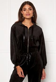 Martine Lunde X Bubbleroom Cozy velvet hoodie Black Bubbleroom.fi