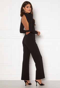 Martine Lunde X Bubbleroom Open back jumpsuit Black Bubbleroom.fi