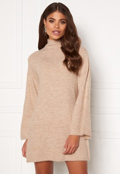Martine Lunde X Bubbleroom Wide sleeve knitted dress Beige Bubbleroom.fi
