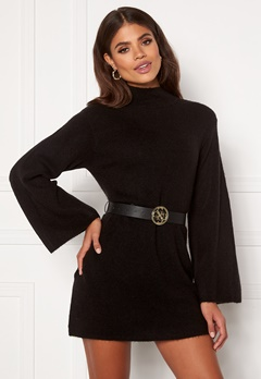 Martine Lunde X Bubbleroom Wide sleeve knitted dress Black Bubbleroom.fi