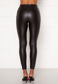 AX Paris Matt Faux Pu Leggings Black Bubbleroom.fi