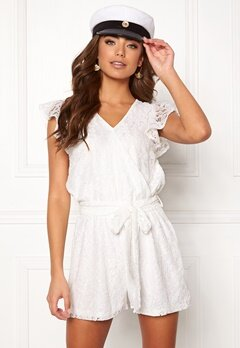 DRY LAKE Megan Playsuit White Lace Bubbleroom.fi