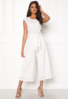VILA Melis Cropped Jumpsuit White Bubbleroom.fi