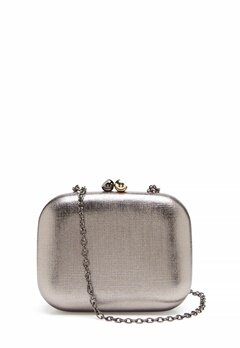 Menbur Metallic Clutch Taupe Bubbleroom.fi