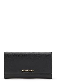 Michael Michael Kors Large 3 Folder Wallet 001 Black Bubbleroom.fi