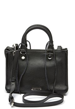 Rebecca Minkoff Micro Regan Satchel Tote 001 Black/Silver Bubbleroom.fi
