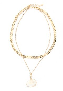 Pieces Millie Combi Necklace Gold Colour Bubbleroom.fi
