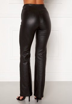 Moa Mattsson X Bubbleroom Coated flared trousers Black Bubbleroom.fi