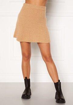Moa Mattsson X Bubbleroom Knitted short skirt Camel Bubbleroom.fi