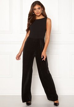 Moa Mattsson X Bubbleroom Pleated pants jumpsuit Black Bubbleroom.fi