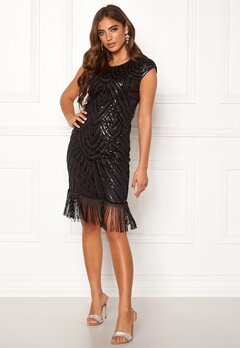 Moments New York Aida Beaded Dress Black Bubbleroom.fi