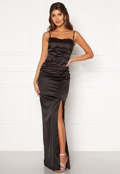 Moments New York Alda Strap Gown Black Bubbleroom.fi