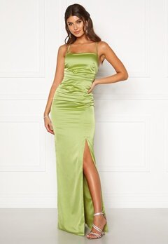 Moments New York Alda Strap Gown Green Bubbleroom.fi