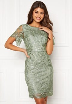 Moments New York Alexandra Beaded Dress Light green Bubbleroom.fi