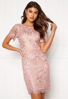 Moments New York Alexandra Beaded Dress Pink Bubbleroom.fi