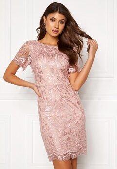 Moments New York Alexandra Beaded Dress Pink Bubbleroom.fi