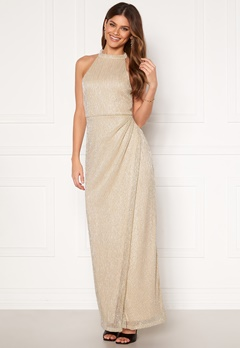 Moments New York Alice Lurex Gown Gold-coloured Bubbleroom.fi