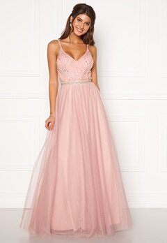 Moments New York Anessa Sparkle Gown Light pink Bubbleroom.fi