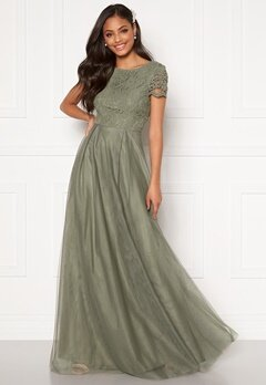 Moments New York Anna Mesh Gown Green Bubbleroom.fi