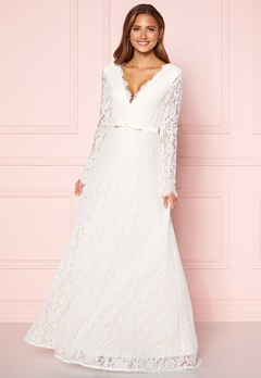 Moments New York Antoinette Wedding Gown White Bubbleroom.fi