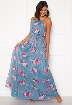 Moments New York Aster Chiffon Gown Floral Bubbleroom.fi