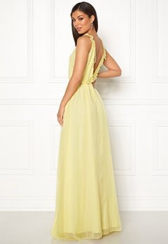 Moments New York Aster Chiffon Gown Light yellow Bubbleroom.fi