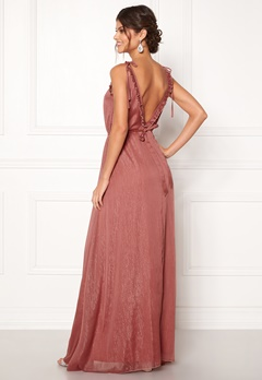 Moments New York Aster Chiffon Gown Old rose Bubbleroom.fi
