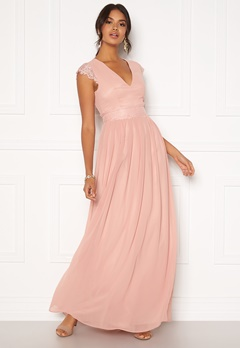 Moments New York Athena Chiffon Gown Dusty pink Bubbleroom.fi