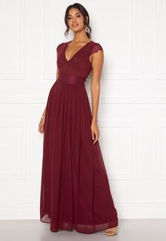 Moments New York Athena Chiffon Gown Wine-red Bubbleroom.fi