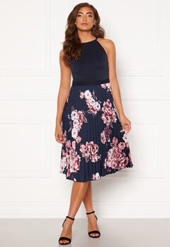 Moments New York Aurora Print Dress Navy Bubbleroom.fi