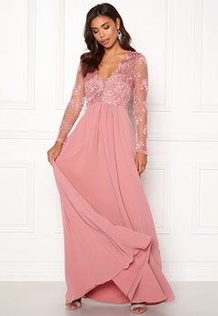 Moments New York Azalea Lace Gown Dusty pink Bubbleroom.fi
