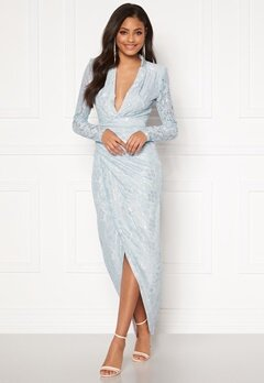 Moments New York Becca Lace Gown Light blue Bubbleroom.fi