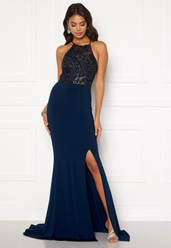 Moments New York Bella Sparkle Gown Navy Bubbleroom.fi
