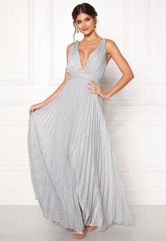 Moments New York Bryony Lurex Gown Silver coloured bubbleroom.fi