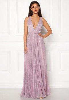 Moments New York Bryony Lurex Gown Light pink / Silver Bubbleroom.fi